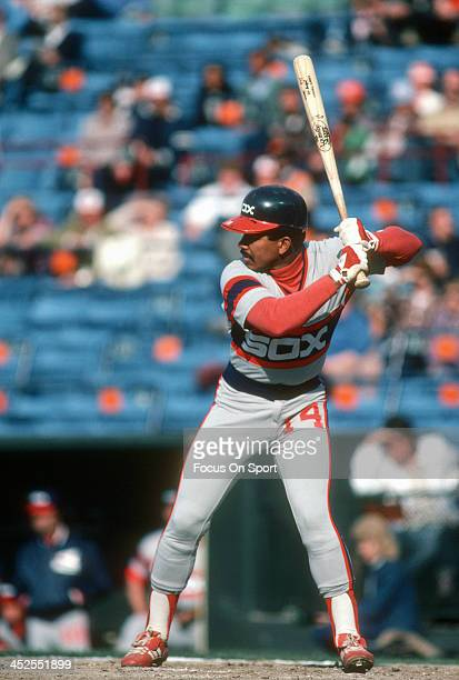Tony Bernazard of the Chicago White Sox bats against the Baltimore Orioles during an Major League Baseball game circa 1983 at Memorial Stadium in...
