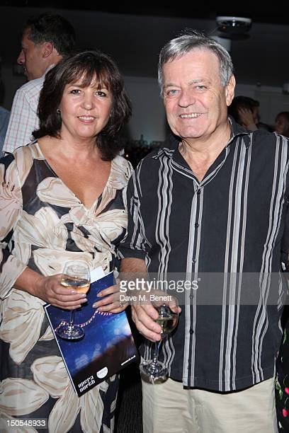 Tony Blackburn and wife Debbie Blackburn attend the 'Carousel Press Night Curtain Call' at Barbican Theatre on August 20 2012 in London England