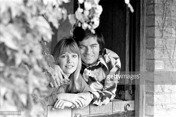 Tony Blackburn at home in Cookham Dean, Berkshire, with his wife Tessa Wyatt, 5th September 1974.