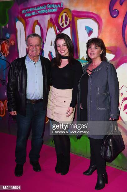 Tony Blackburn daughter Victora and Debbie Blackburn attend the 50th Anniversary of 'Hair The Musical' gala night at The Vaults on October 17 2017 in...