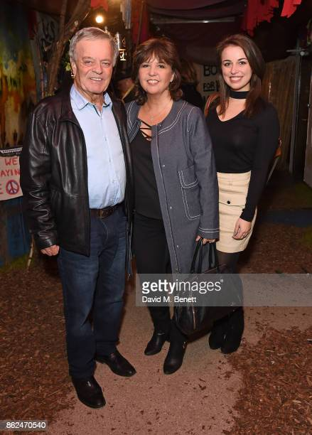 Tony Blackburn Debbie Blackburn and Victoria Blackburn attend the 50th anniversary production of Hair The Musical at The Vaults on October 17 2017 in...