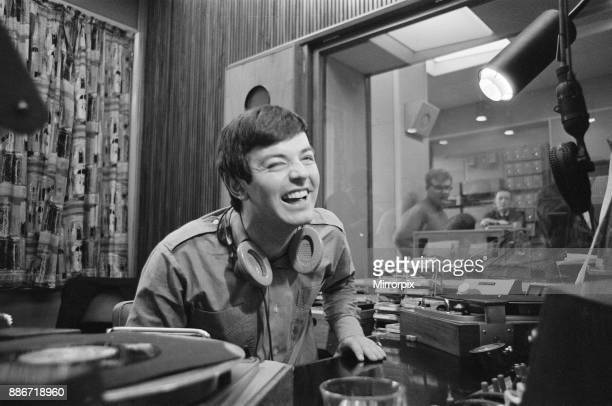 Tony Blackburn the 22 year old Disc Jockey during his broadcast of the very first show on BBC Radio One The BBC Radio One launched at 7am Friday 30th...