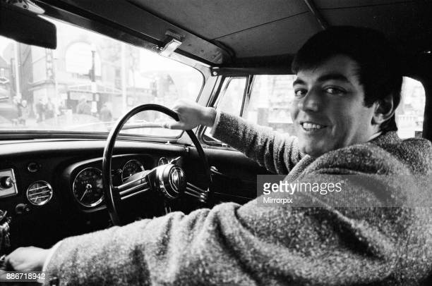 Tony Blackburn the 22 year old Disc Jockey on his way to work at The BBC in his red sports car through the quiet dawn streets of London Tony...