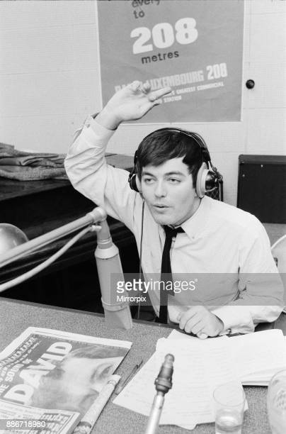 Tony Blackburn the 22 year old Disc Jockey presenting his Radio Luxembourg radio show Picture taken Saturday 1st October 1967