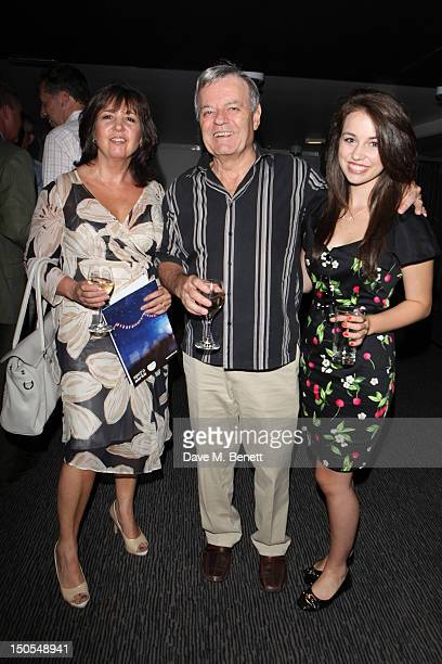 Tony Blackburn wife Debbie Blackburn and daughter Victoria Blackburn attend the 'Carousel Press Night Curtain Call' at Barbican Theatre on August 20...