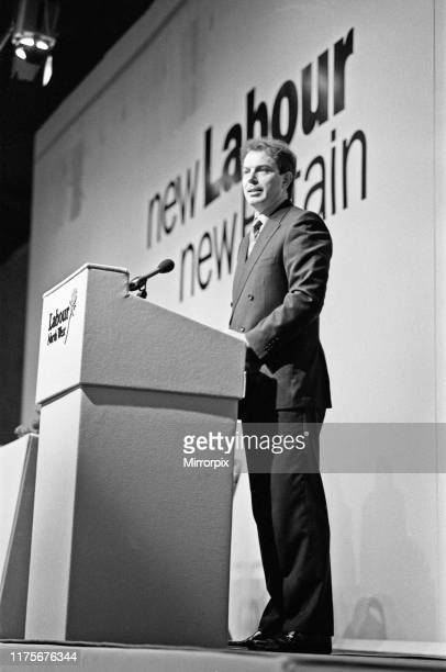 Tony Blair addressing the North West Labour Regional conference in Southport 11th March 1995