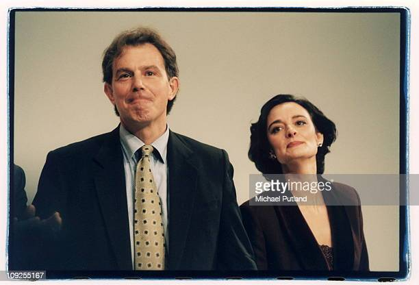 Tony Blair and Cherie Blair at the Labour Party Conference Blackpool 1995