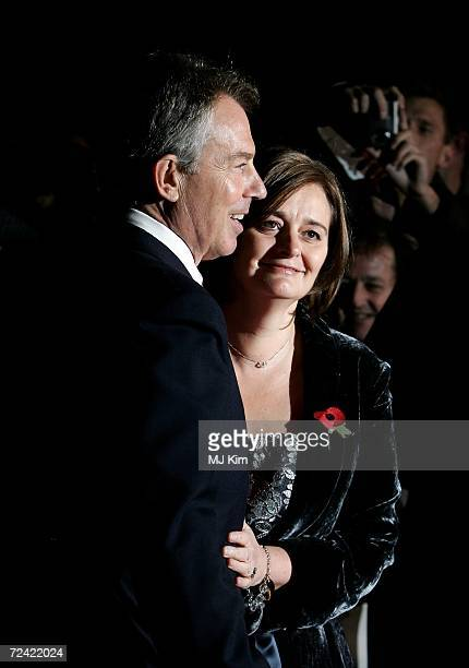 Tony Blair and his wife Cherie arrive at the Daily Mirror's Pride Of Britain Awards at ITV Centre on November 6 2006 in London England The annual...