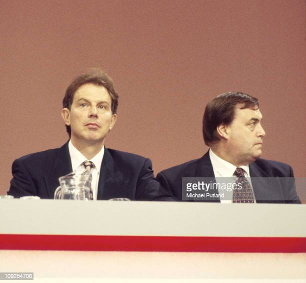 Tony Blair and John Prescott at the Labour Party Conference Blackpool 1995