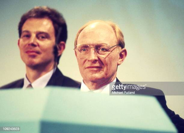Tony Blair and Neil Kinnock at the Labour Party Conference Blackpool 1994