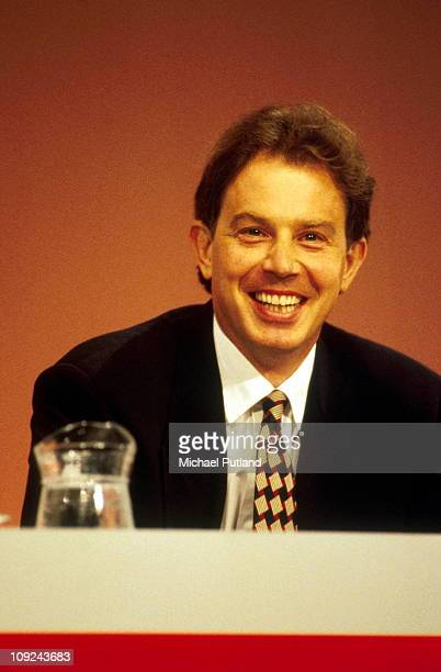 Tony Blair at the Labour Party Conference Blackpool 1995