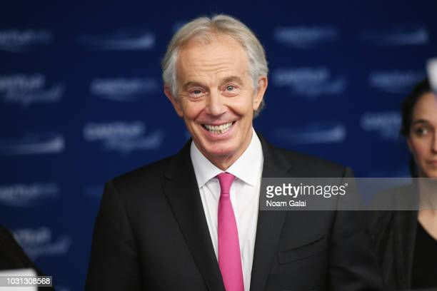 Tony Blair attends the Annual Charity Day hosted by Cantor Fitzgerald BGC and GFI at Cantor Fitzgerald on September 11 2018 in New York City