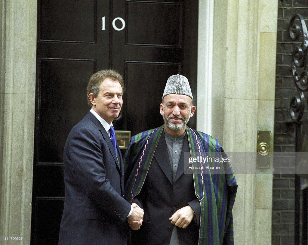 Tony Blair meets Hamid Karzai