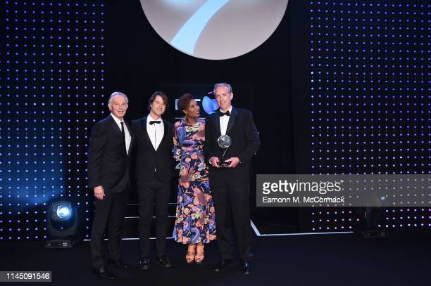 Tony Blair former British Prime Minister and Denise Lewis present the Social and Sustainable Development Award to 'The Ocean Race' The Power of Sport...