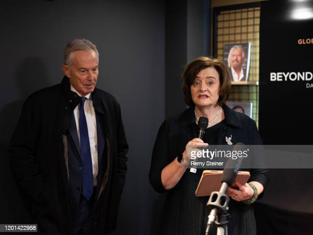 Tony Blair, Former Prime Minister and Cherie Blair, Founder of the Cherie Blair Foundation attend the Global Citizen Forum - Beyond Boundaries Event...
