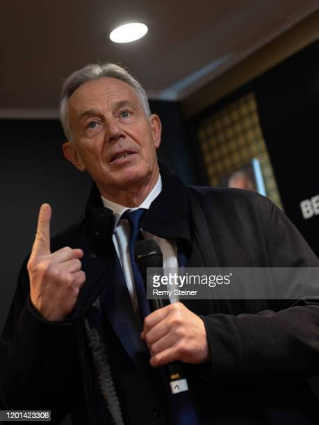 Tony Blair, Former Prime Minister speaks at the Global Citizen Forum - Beyond Boundaries Event at the annual 2020 World Economic Forum on January 21,...