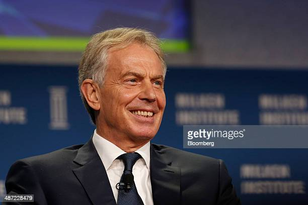 Tony Blair former UK prime minister speaks at the annual Milken Institute Global Conference in Beverly Hills California US on Monday April 28 2014...