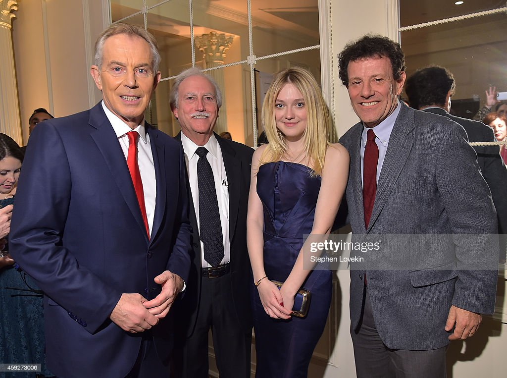 Tony Blair, Mike Bezos, Dakota Fanning, and Nicholas Kristof attend the 2nd Annual Save The Children Illumination Gala at the Plaza on November 19, 2014 in New York City.