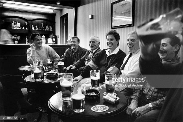 Tony Blair MP at Trimdon Labour Club in Blair's constituency of Sedgefield County Durham during the 1997 General Election campaign trail The future...
