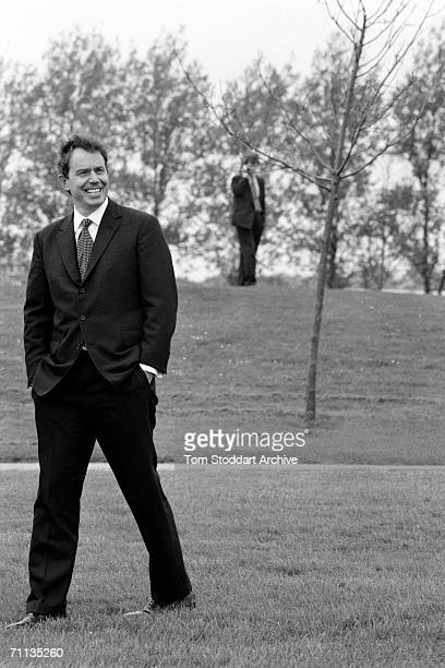 Tony Blair MP in a park during his successful 1997 General Election campaign to become Britain's first Labour Prime Minister since 1979 Press...