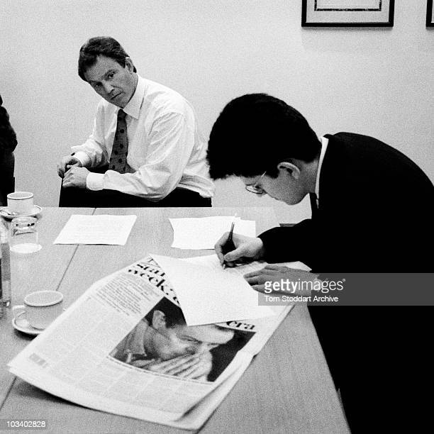 Tony Blair MP is pictured during his successful 1997 General Election campaign to become Britain's first Labour Prime Minister since 1979 Mr Blair...