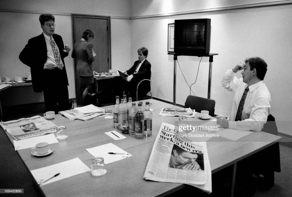Blair And Miliband : News Photo