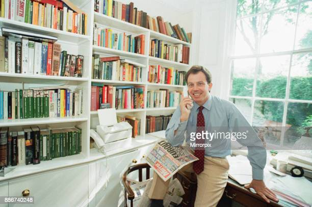 Tony Blair MP, Labour Shadow Home Secretary and Member of Parliament for Sedgefield, pictured at home in Islington, London, Monday 13th June 1994.