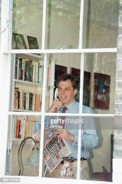 Tony Blair MP Labour Shadow Home Secretary and Member of Parliament for Sedgefield pictured at home in Islington London Monday 13th June 1994