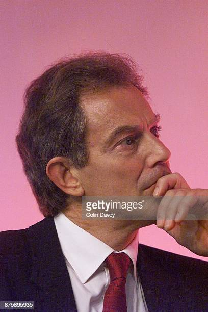 Tony Blair on the last day of the Labour Party Conference Brighton 28th September 2000