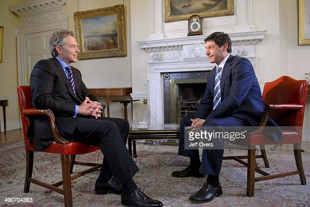Tony Blair speaks to interviewed by Jon Sopel for the BBC news and current affairs programme Politics Show Sunday 15th Mar 2007 Location The White...