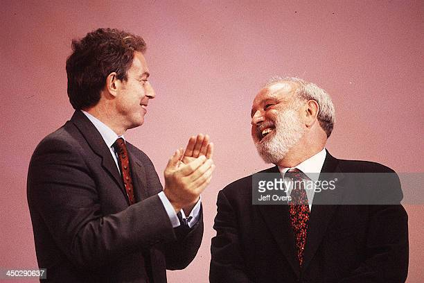 Tony Blair with Frank Dobson Secretary of State for Health Labour Party Conference 1999