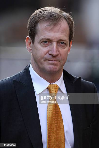 Tony Blair's former director of communication Alastair Campbell arrives to give evidence to The Leveson Inquiry at The Royal Courts of Justice on...