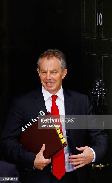 Tony Blairs leaves number ten, for his final Prime Minister's question time on June 27, 2007 in London. Mr Blair came to power in 1997 and in 10...