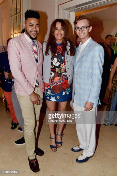 Tony Bowles Lieba Nesis and Cole Rumbough attend Katrina and Don Peebles Host NY Mission Society Summer Cocktails at Private Residence on July 7 2017...