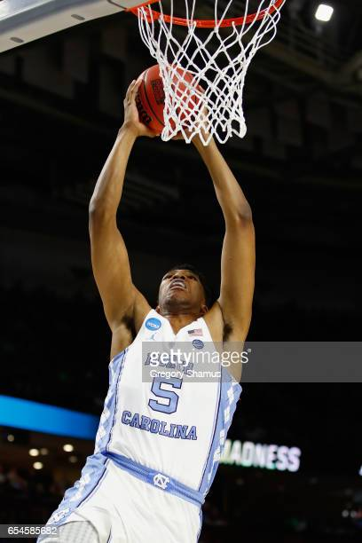 Tony Bradley of the North Carolina Tar Heels shoots against the Texas Southern Tigers in the first half during the first round of the 2017 NCAA Men's...