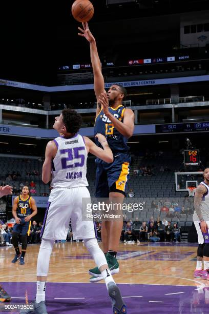 Tony Bradley of the Salt Lake City Stars shoots the ball against the Reno Bighorns on January 7 2018 at Golden 1 Center in Sacramento California NOTE...