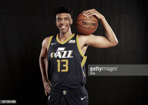 Tony Bradley of the Utah Jazz poses for a portrait during the 2017 NBA Rookie Photo Shoot at MSG Training Center on August 11 2017 in Greenburgh New...