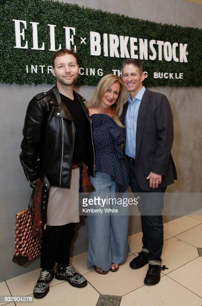 Tony Bravo Lori Kahan and David Kahan attend the ELLE and Birkenstock Launch Exclusive PopUp Shop at Nordstrom on March 15 2018 in San Francisco...