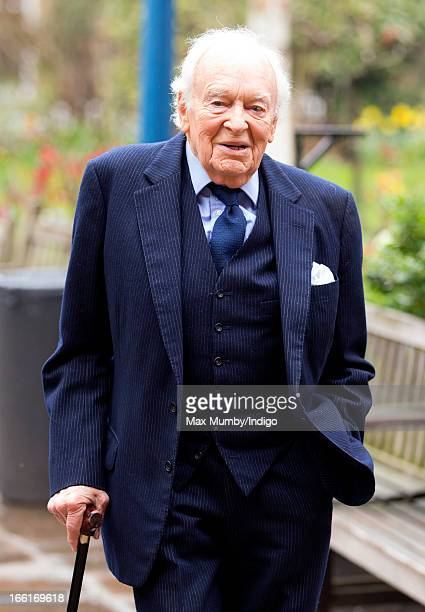 Tony Britton attends a memorial for actress Dinah Sheridan at St Paul's Church Covent Garden on April 9 2013 in London England Dinah Sheridan best...