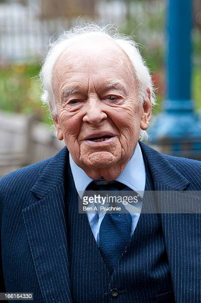 Tony Britton attends a memorial for Dinah Sheridan an actress who starred in 'The Railway Children' at St Paul's Church on April 9 2013 in London...