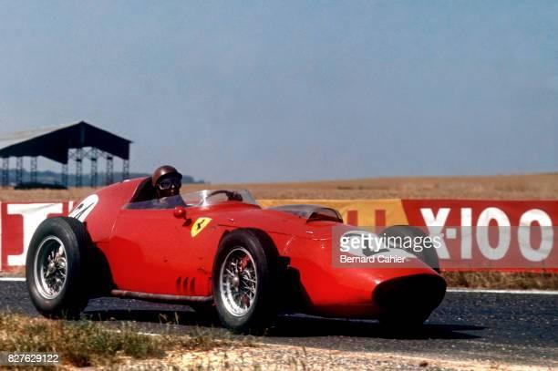 Tony Brooks Ferrari 246 Grand Prix of France Reims 05 July 1959 Tony Brooks winner of the French Grand Prix at the wheel of the Ferrari 246