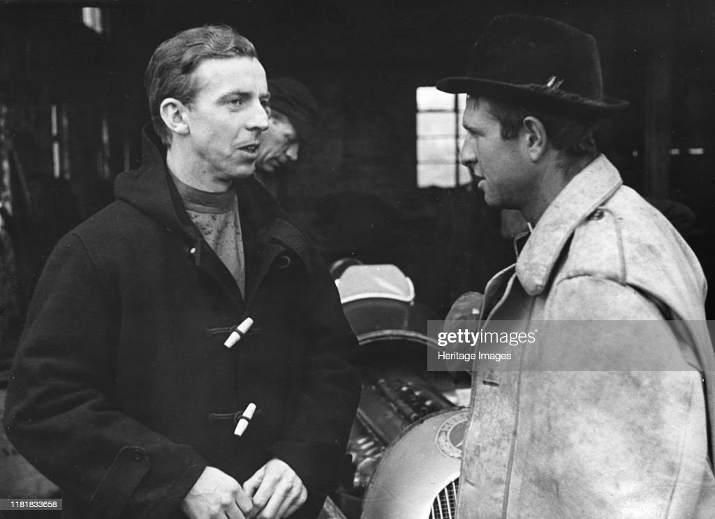 Tony Brooks With Peter Collins. Creator: Unknown. : ニュース写真