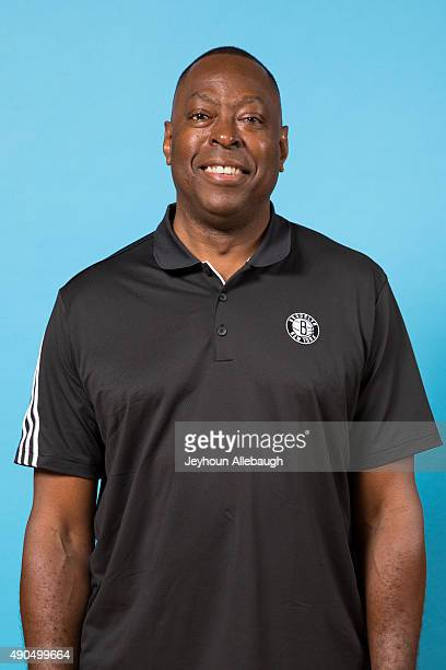 Tony Brown assistant coach of the Brooklyn Nets poses for a photo during media day on September 28 2015 in East Rutherford NJ NOTE TO USER User...