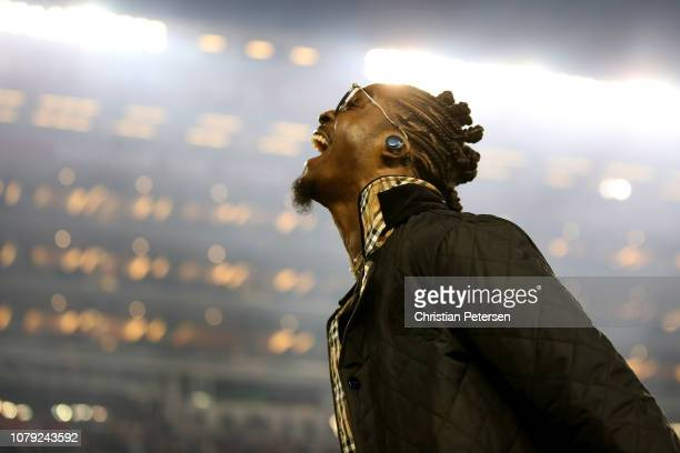 Tony Brown of the Green Bay Packers is seen prior to the CFP National Championship between the Alabama Crimson Tide and the Clemson Tigers presented...