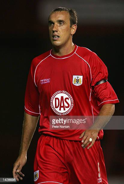 Tony Butler of Bristol City in action during the Nationwide League Division Two match between Bristol City and Northampton Town played at Ashton Gate...