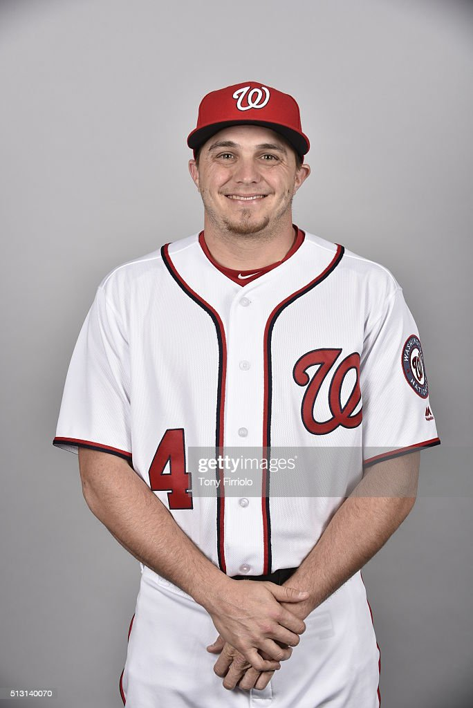 Tony Campana #4 of the Washington Nationals poses during Photo Day on Sunday, February 28, 2016 at Space Coast Stadium in Viera, Florida.