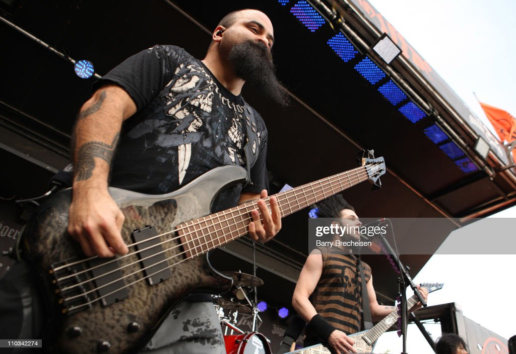 Tony Campos and Wayne Static of Static-X perform during the 2009 Rock On The Range festival at Columbus Crew Stadium on May 16, 2009 in Columbus, Ohio.