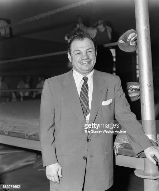 Tony Canzoneri poses for a portrait in Stillman's Gym New York New York 1952