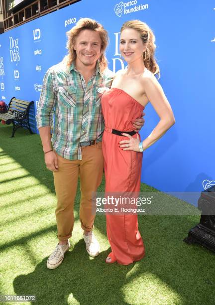 Tony Cavalero and Annie Cavalero attend the premiere of LD Entertainment's Dog Days at Westfield Century City on August 5 2018 in Century City...