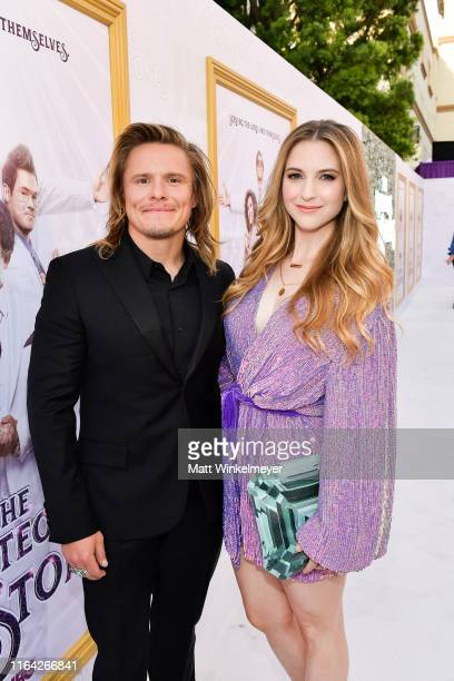 Tony Cavalero and Annie Cavalero attends the Los Angeles premiere of New HBO Series The Righteous Gemstones at Paramount Studios on July 25 2019 in...